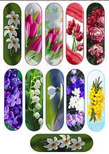 Вафельная картинка для эклеров Цветы к 8 Марта 1