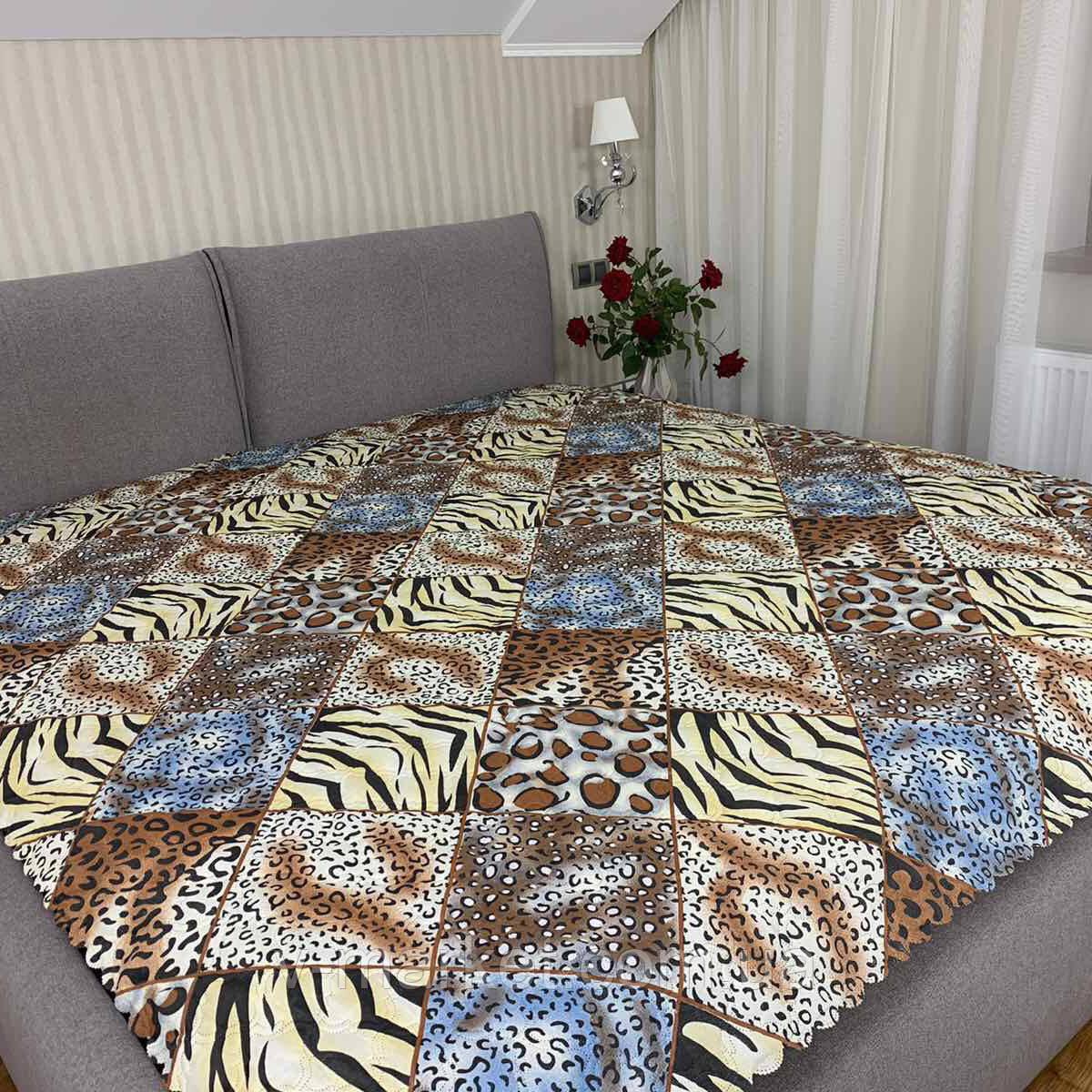 """Летнее одеяло покрывало """"Абстракция"""" евро размер, 195/205"""