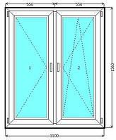 Окно со штульповым открыванием ALMPlast