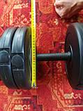 Гантели 2 шт по 11 кг разборные,наборные для тренировок, Набор гантелей  штанги и диски, фото 5