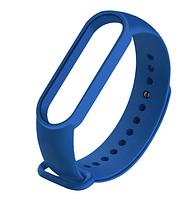 Силиконовый синий ремешок на фитнес трекер Xiaomi mi band 5 браслет аксессуар замена