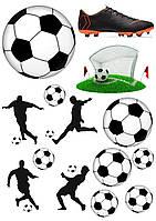 Вафельная картинка Футбол | Съедобные картинки Футболисты | Футбол картинки разные Формат А4