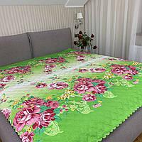 """Летнее одеяло покрывало """"Цветы"""" евро размер, 195/205"""