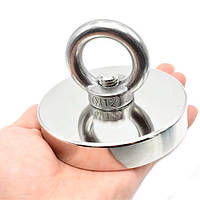 Магнит неодимовый поисковый с кольцом 90x18мм N52 до 250кг