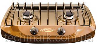 Плита газовая настольная двухгорелочная Gefest 702-02 коричневая