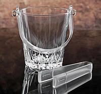 Ведро для льда с щипцами «Karat» 800 мл, h=13 см,Pasabache.