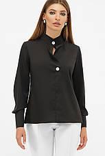 Стильна жіноча блуза з контрастними гудзиками, фото 3