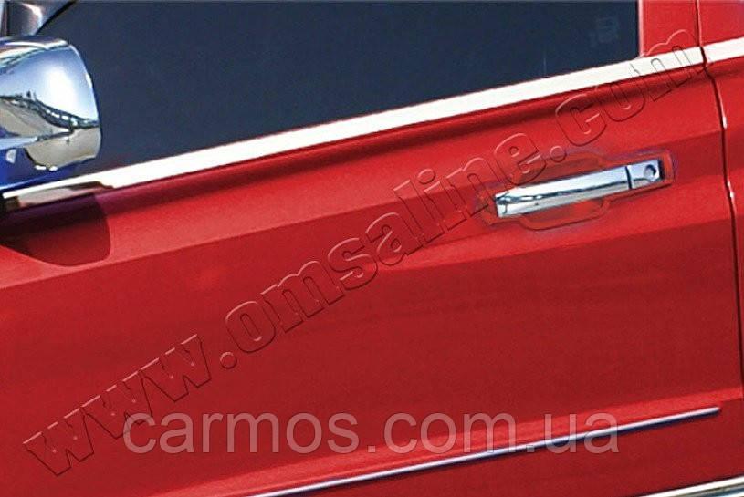 Нижние молдинги стекол Ssang Young Rexton II (2008-) OMSA LINE 4 шт.