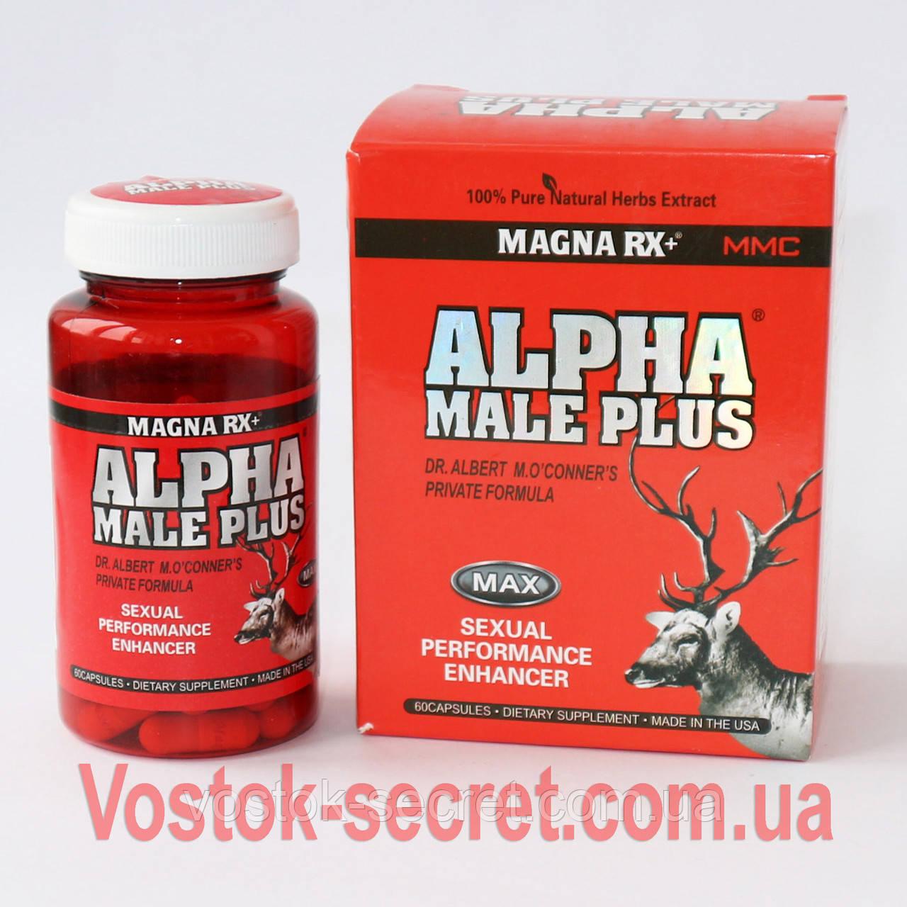 Alpha Male Plus (Альфа Самец)   Препарат для потенции, 60 капсул
