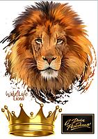 Вафельная картинка букеты цветы для женщин и мужчин лев короной
