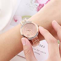 Часы женские с золотистым браслетом код 617, фото 1