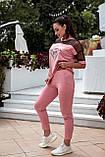 Літній костюм жіночий Турецька двонитка та сітка Розмір 48 50 52 54 Різні кольори, фото 7