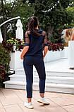Літній костюм жіночий Турецька двонитка та сітка Розмір 48 50 52 54 Різні кольори, фото 6