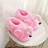 Домашние тапочки кигуруми Фламинго розовые (закрытые) L (Размер 38-43)