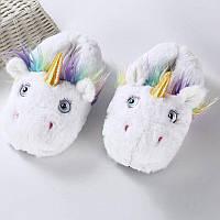 Тапочки Кигуруми Единорог белый(пушистые) M (Размер 35-39)