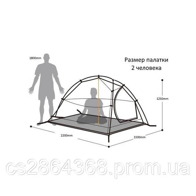 Палатка для туризма LFO GJ-1668-3 Зеленая