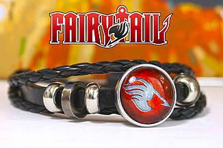 Браслет гильдии Хвост Феи / Fairy Tail красный