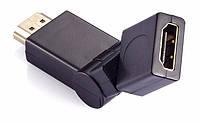 HDMI F to HDMI M соединитель переходник адаптер угловой поворотный (на 360 градусов) (39117)