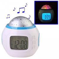 Часы с будильником и проектором звездного неба UKC 1038 (4762)