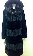 Шуба женская натуральная мутоновая с капюшоном, фото 1