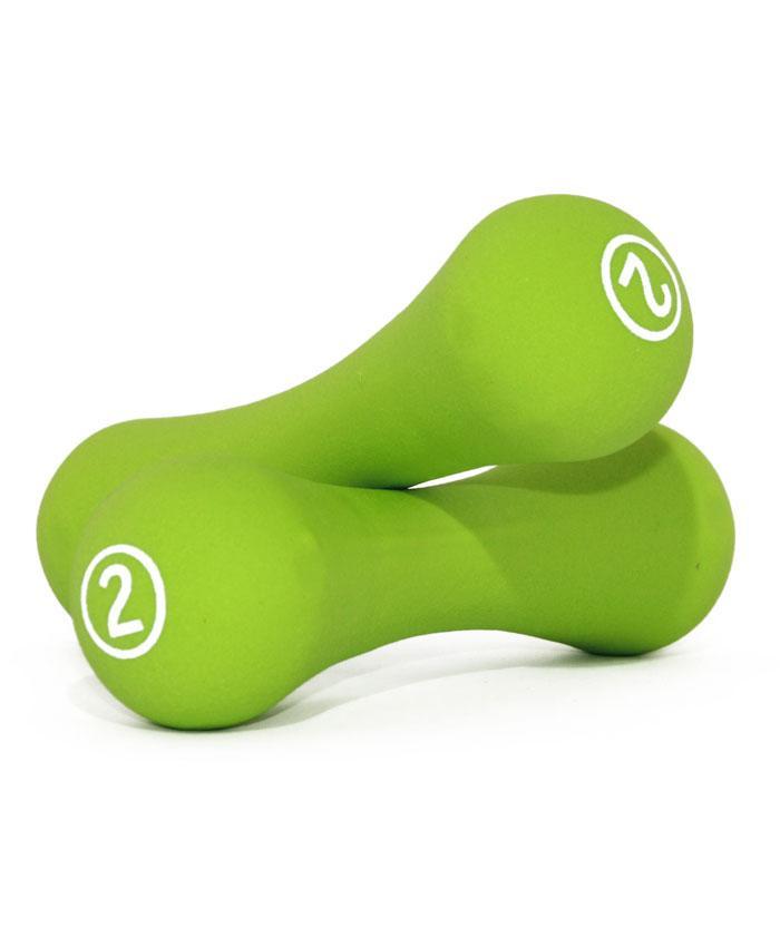 Гантелі неопренові LiveUp Neoprene Dumbbell 2х2 кг Green (LS2002-B2)