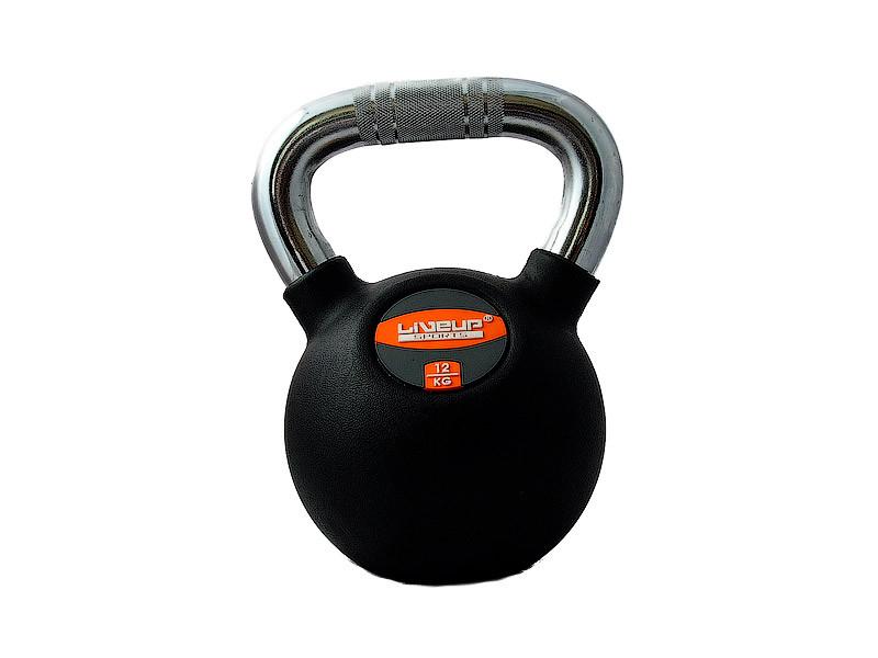 Гиря в резиновой оболочке LiveUp Kettel Dumbell 12 кг Black (LS2044-12)