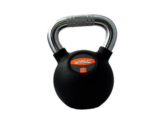 Гиря в резиновой оболочке LiveUp Kettel Dumbell 12 кг Black (LS2044-12), фото 2
