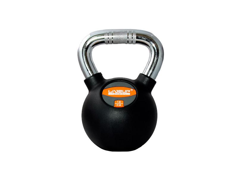 Гиря в резиновой оболочке LiveUp Kettel Dumbell 16 кг Black (LS2044-16)