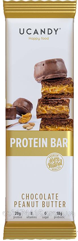 Протеиновый батончик Ucandy Шоколад-Арахис  (60 грамм)