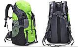 Туристический походный рюкзак 50л, зеленый, фото 2