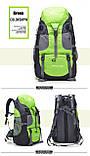 Туристический походный рюкзак 50л, зеленый, фото 4