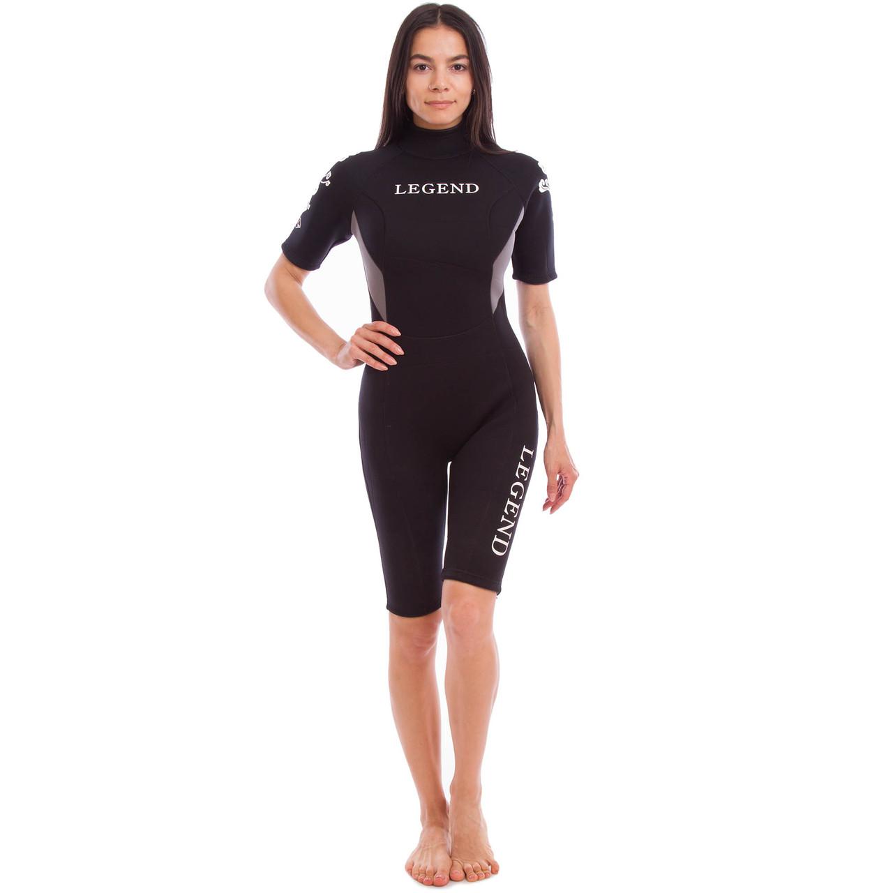 Гидрокостюм для серфинга, водных лыж женский LEGEND 3мм (СКИДКА НА р.L) PL-6406W OF