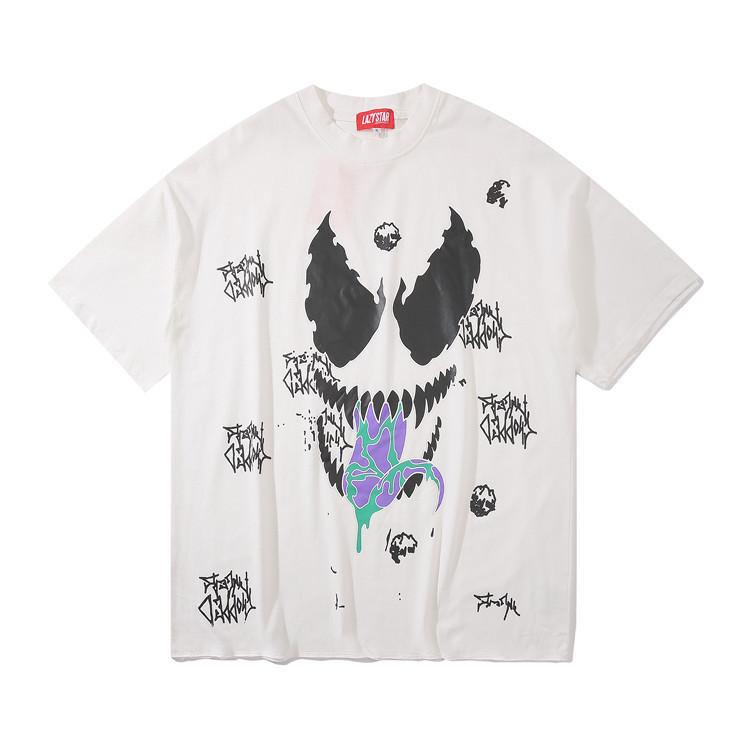 Белая футболка Venom (с качественным принтом веном мужская женская)