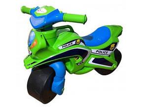 Байк Полиция Doloni-toys салатовый 0138/520