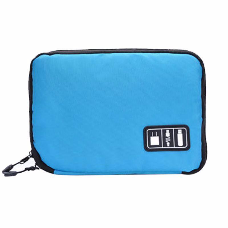 Чехол, сумка - органайзер для проводов, голубой