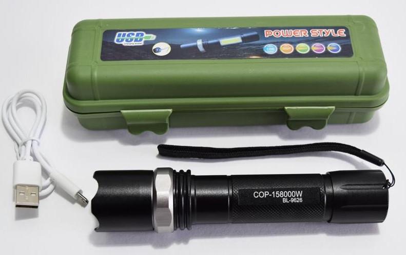 Фонарик аккумуляторный COB BL- 511 COB зарядка от Usb