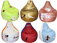 Детское Кресло-мешок бескаркасное пуф груша  с вышивкой