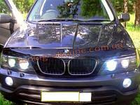 Дефлектор капота (мухобойка) VIP для BMW X5 (E53) с 1999-06