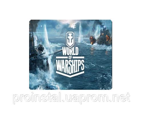 Коврик 290*250 тканевой World of Ships, толщина 3 мм, цвет Grey, Пакет