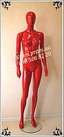 Манекен женский глянцевый красный