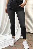 Узкие джинсы на широкой резинке Re-Dress - черный цвет, L (40) (есть размеры), фото 1