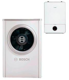 """Тепловий насос Bosch Compress 7000i AW 9 B """"повітря-вода"""" 7 кВт бівалентний режим роботи (8738209016)"""