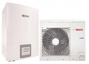 """Тепловий насос Bosch Compress 3000 AWBS 6 """"повітря-вода"""" 7 кВт з можливістю підключення котла (8738203002)"""