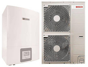 """Тепловий насос Bosch Compress 3000 AWBS 15 """"повітря-вода"""" 15 кВт з можливістю підключення котла (8738203004)"""