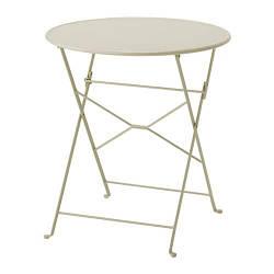 ИКЕА (IKEA) САЛЬТХОЛЬМЕН, 803.118.33, Садовый стол, складной бежевый, 65 см - ТОП ПРОДАЖ