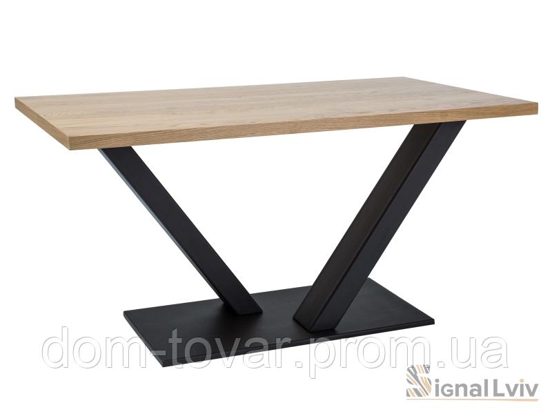 Стол обеденный Signal VECTOR 180 (дуб/черный)