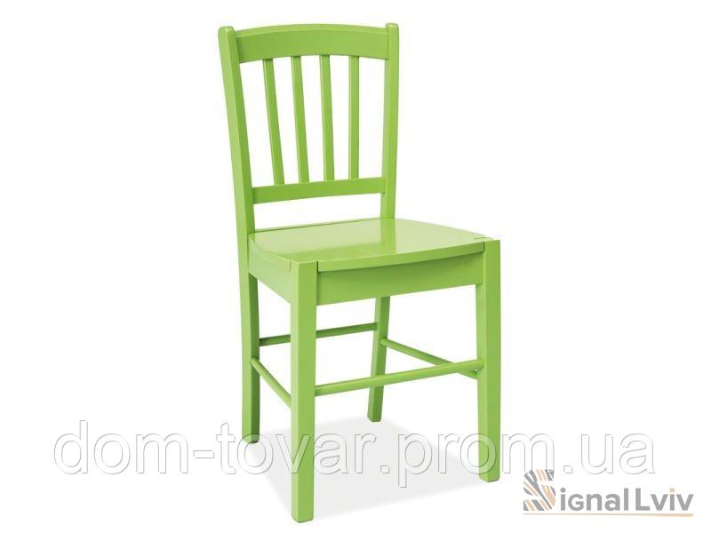Стул деревянный CD-57 фабрика Signal цвет зеленый
