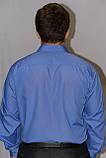 Мужская рубашка василькового цвета, фото 3