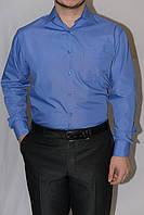 Мужская рубашка василькового цвета