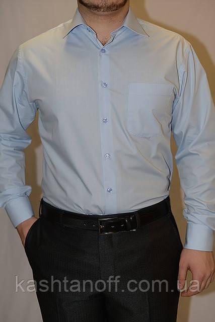 Мужская рубашка светло-голубого цвета